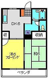 サンハイム富士見[3A号室]の間取り