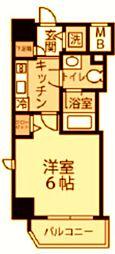 グランヴァン横濱反町 1階1Kの間取り