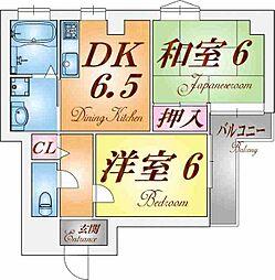 兵庫県神戸市兵庫区松本通3丁目の賃貸マンションの間取り
