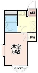 サンシティ稲田堤第5[3階]の間取り