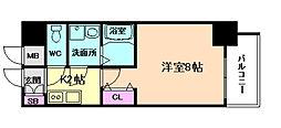 プレサンス大阪福島シエル[3階]の間取り