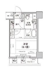 東京都荒川区東日暮里2丁目の賃貸マンションの間取り