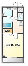 愛知県豊田市平戸橋町寺前の賃貸マンションの間取り