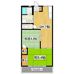コーポ司[2階]の間取り