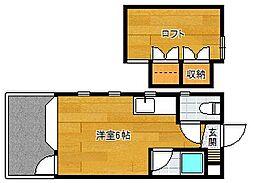 モアハイツ南福岡[101号室]の間取り