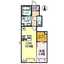 仮)D-room蜷川 A棟[103号室]の間取り