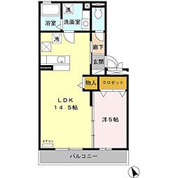 新潟県三条市須頃2丁目の賃貸アパートの間取り