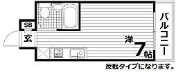 ベル東須磨[3階]の間取り