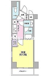東京都台東区上野2丁目の賃貸マンションの間取り