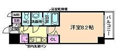 JR東西線 御幣島駅 徒歩7分の賃貸マンション 8階1Kの間取り