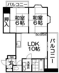 川島第20ビル枚方公園[7階]の間取り