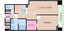 メゾンドファミーユ鶴見緑地公園I[4階]の間取り