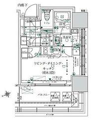 ローレルタワー ルネ浜松町 3階ワンルームの間取り