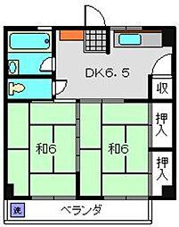 神奈川県横浜市南区共進町1丁目の賃貸マンションの間取り