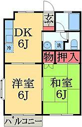 千葉県市原市瀬又の賃貸アパートの間取り