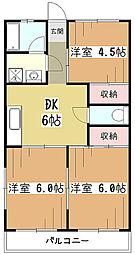 小山マンション[3階]の間取り