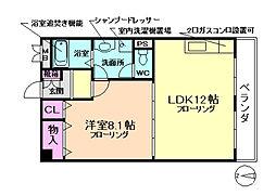 メゾントキワ[4階]の間取り