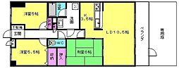 パル明石魚住スカイマンション[105号室]の間取り