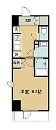 西武新宿線 久米川駅 徒歩2分の賃貸マンション 6階1Kの間取り