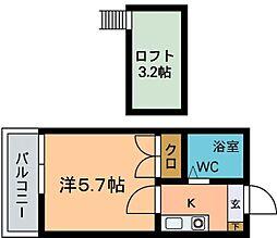 モーリックス七隈A[203号室]の間取り