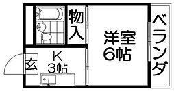 フロンティア長尾II[3階]の間取り