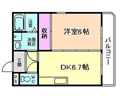 サンライズ菅栄[2階]の間取り