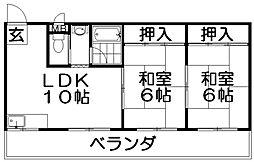 ハイクレスト光善寺[3階]の間取り