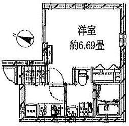 東京メトロ半蔵門線 清澄白河駅 徒歩3分の賃貸マンション 1階1Kの間取り
