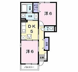 ホーリーホック[1階]の間取り
