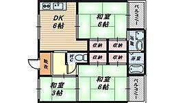 大阪府和泉市伏屋町5丁目の賃貸マンションの間取り