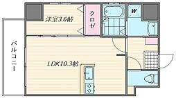 ウインステージ箱崎II[1105号室]の間取り