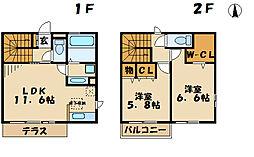 柚子季 1階2LDKの間取り