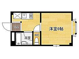 ビバリーハウス南福岡III[2階]の間取り