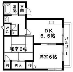 リバーハウス[1階]の間取り