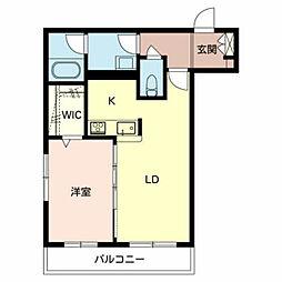 仮)堺市東区シャーメゾン西野 3階1LDKの間取り