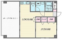 松尾コーポ[401号室]の間取り