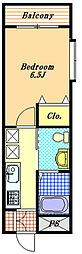 パレス三惠[2階]の間取り