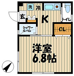 HAITU K[203号室]の間取り