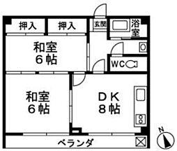 東福岡ビル[603号室]の間取り