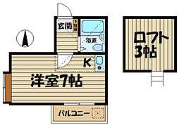 R-KAMAKURA[211号室]の間取り