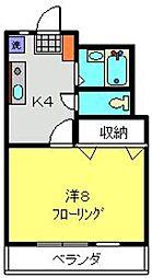 mare21[203号室]の間取り