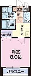 愛知県東海市名和町の賃貸アパートの間取り