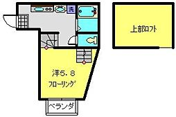 神奈川県横浜市港南区港南1丁目の賃貸アパートの間取り