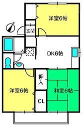 ユートピア駒崎B棟[5号室]の間取り