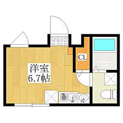仮称 王子一丁目マンション A棟 5階ワンルームの間取り