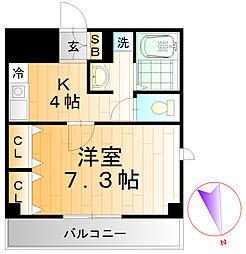 高島平コロナハイツ[106号室]の間取り