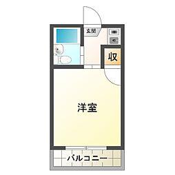 岡崎レジデンス[2階]の間取り