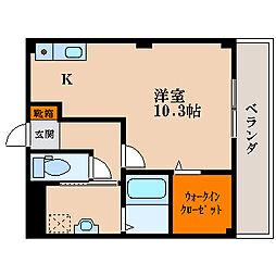 滋賀県長浜市公園町の賃貸マンションの間取り