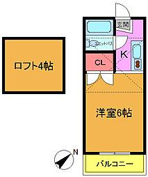 ロフティベルNo.2[203号室]の間取り
