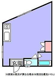 エスポアール静[203号室]の間取り